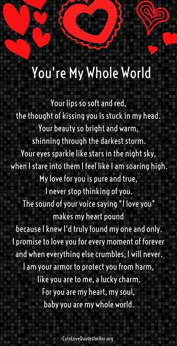 Girlfriend poems for romantic love Love Poems