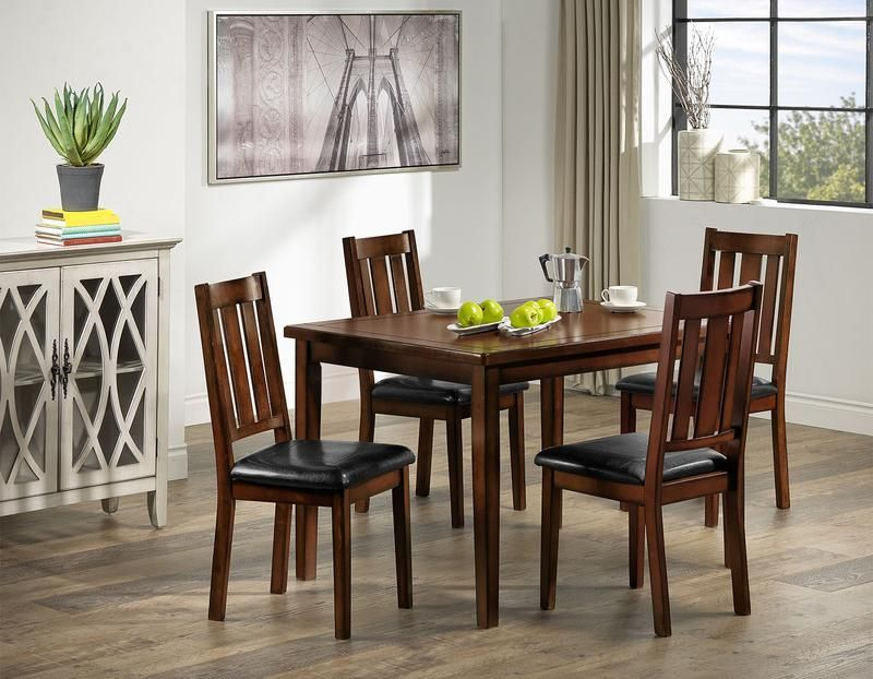 Boyd Dining Table Dark Brown Cherry In 2020 Dinette Sets Dining Table Dinette