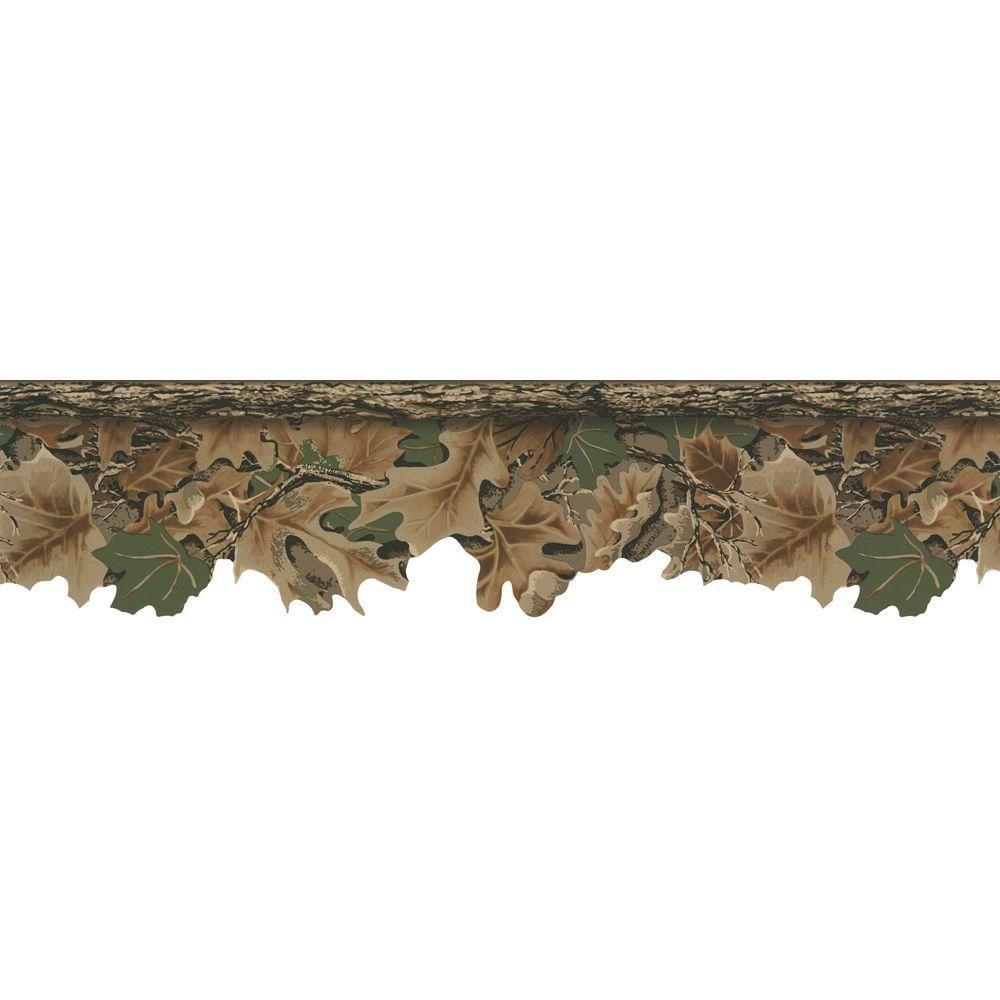 Lake Forest Lodge Realtree Camouflage Wallpaper Border Green