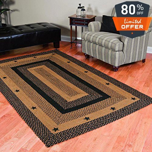 Price Tracking For Ihf Home Decor Rectangle Area Floor Carpet Braided Rug 27 X 48 New Star Black Design Jute Fabric Br 197 2748 R Price History Chart And Dr Braided Area