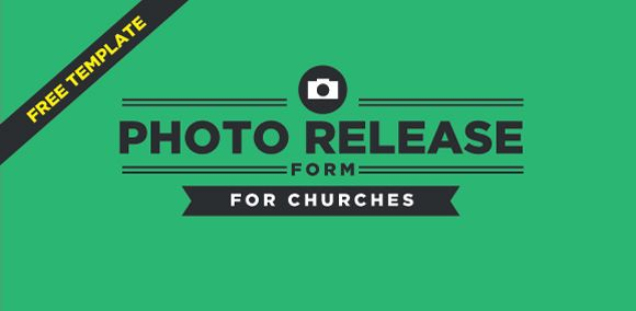 Free Photo Release Form Template For Churches  Templates