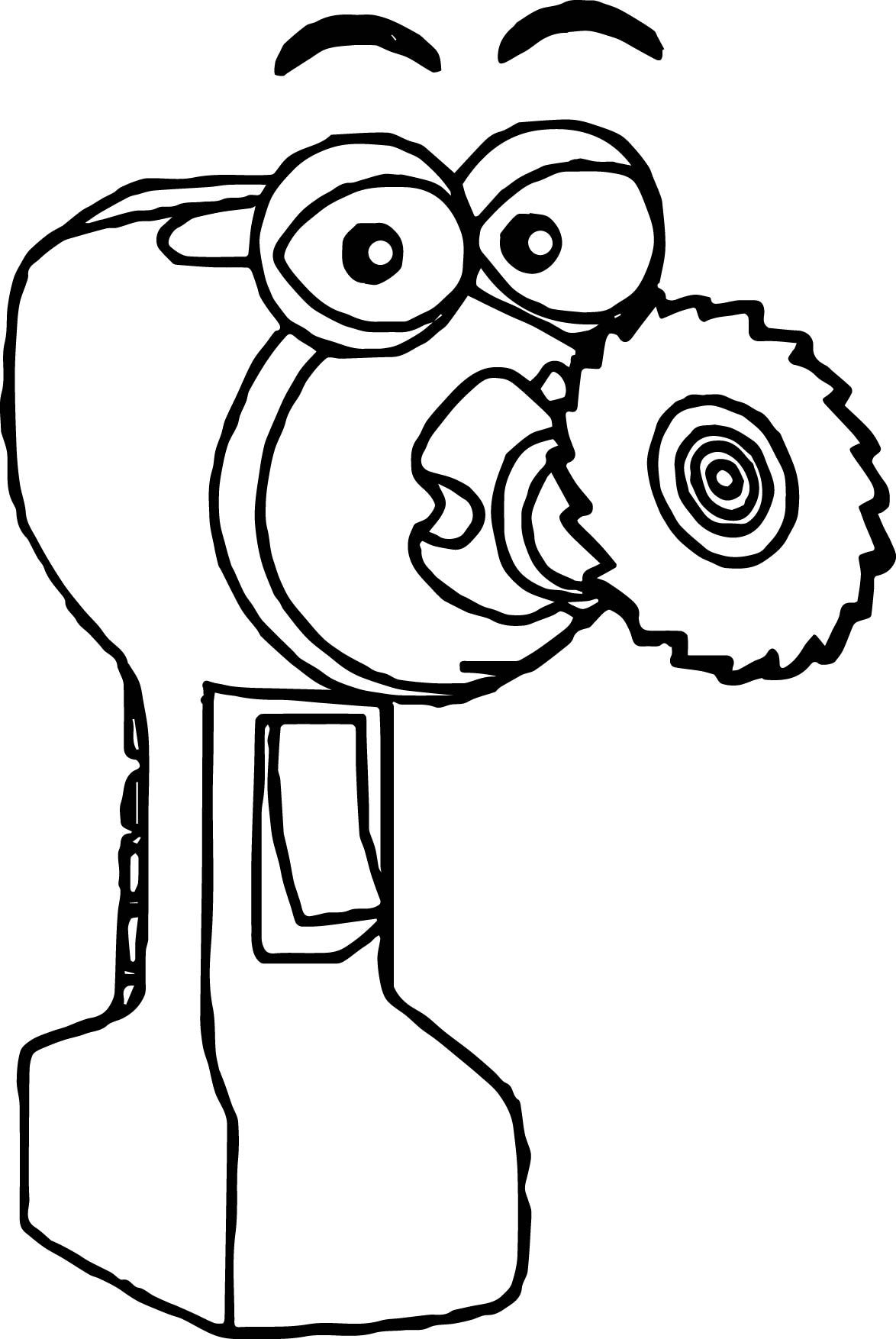 Awesome Spinner Handy Manny Coloring Page