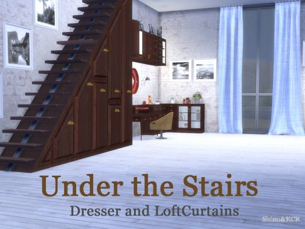 The Sims Resource Under The Stairs By Shinokcr บ าน