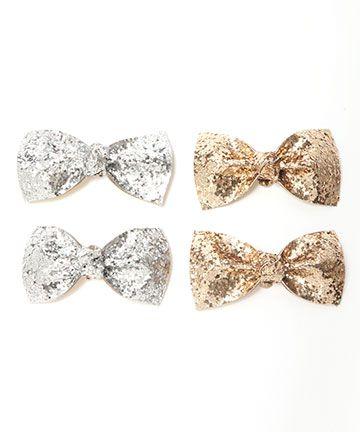 glitter bow shoe clips / ban.do