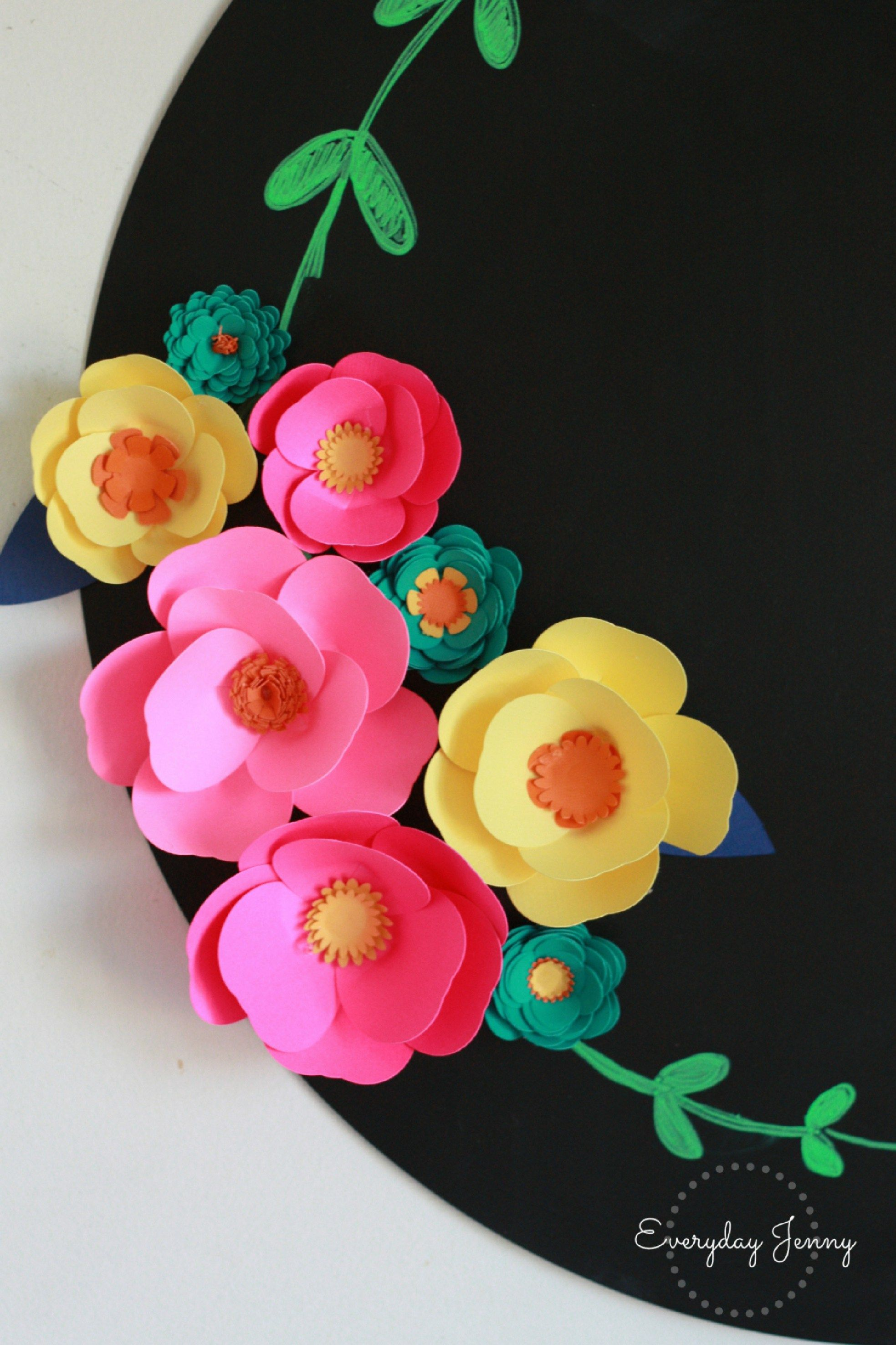 Check out this cute easy tutorial on how to make 3d paper flowers check out this cute easy tutorial on how to make 3d paper flowers with your cricut mightylinksfo
