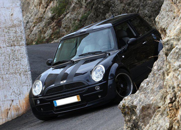 Love The Black On Black Stripes Mini Cooper Black Mini Cooper