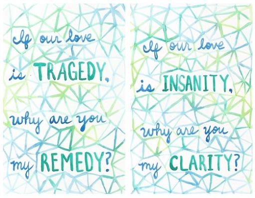 Clarity Zedd Ft Foxes Lyrics Art Via Tumblr Paperocean
