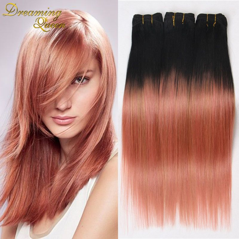 7atop rose gold ombre human hair extensions brazilian straight 7atop rose gold ombre human hair extensions brazilian straight hair tone 1bpink ombre brazilian pmusecretfo Choice Image