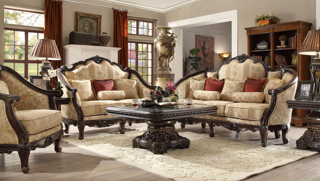Hd 953 Homey Design Upholstery Living Room Set Victorian European Mesmerizing Living Rooms Sets Decorating Inspiration