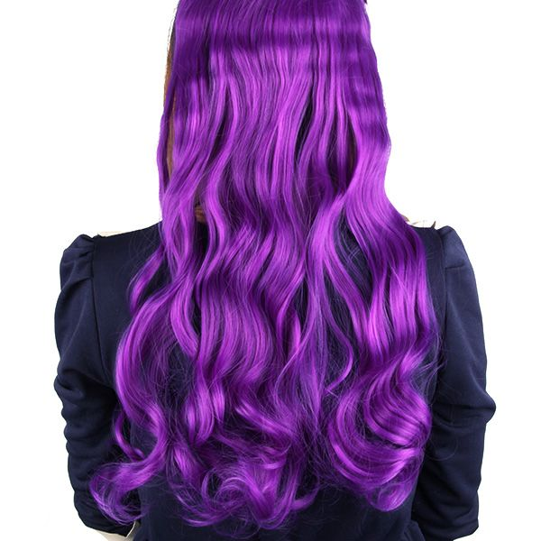 Fashion Full Head Clip Curly Wavy Women Synthetic Hair Extension