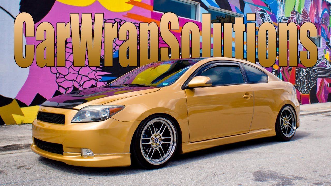 Scion Tc Gold Metallic 3m Vinyl Wrap South Florida Call Carwrap Scion Tc Scion Vinyl Wrap