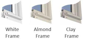 Clay or almond windows