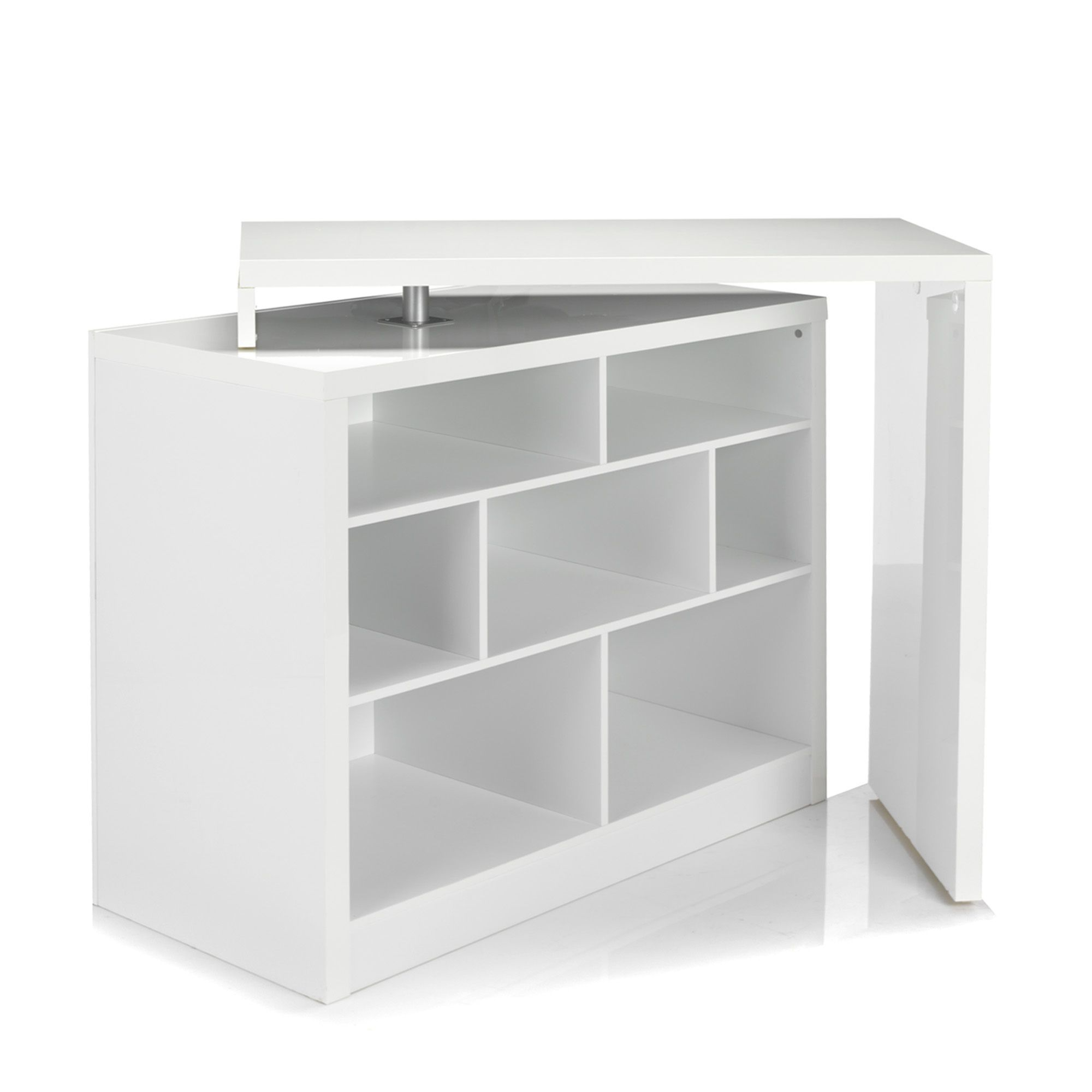 Bar table chock tables de repas alinea bar for Meuble bar laque blanc