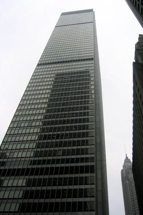 Modern Architecture New York 1961 - chase manhattan bank - new york nyc   international mid