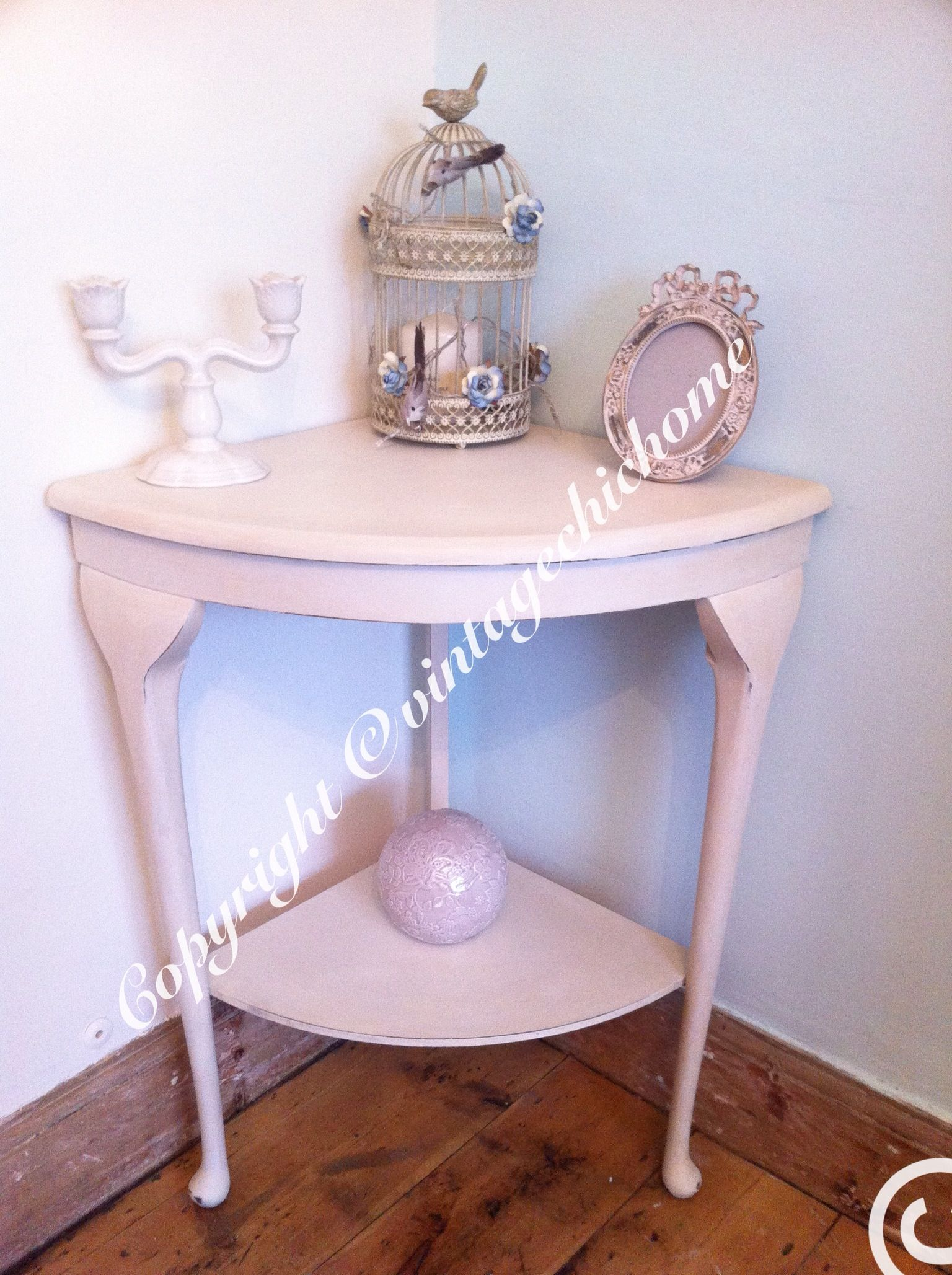 corner hall table. Beautiful Corner Queen Anne Leg Vintage Shabby Chic Hall Table Www.facebook.com G