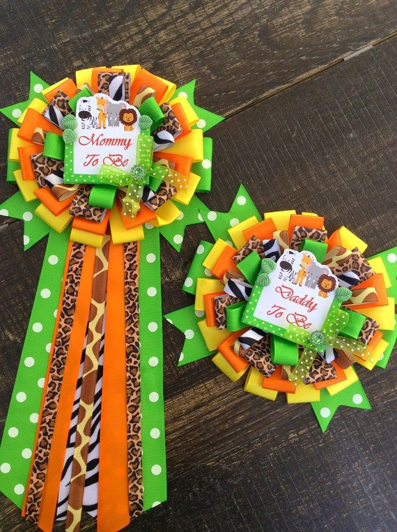 Set Of 2 Safari Pins Safari Baby Shower Mommy To Be Pin Safari