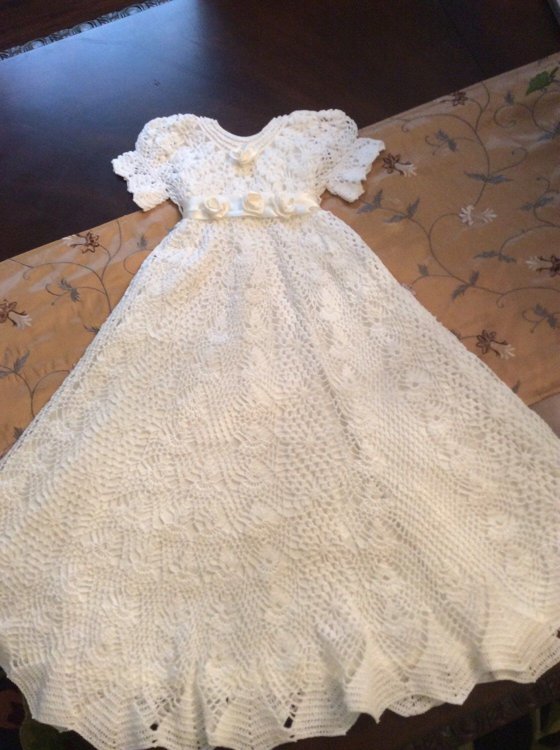 4 crochet patterns at a discount, baptism gown, blessing gown ...