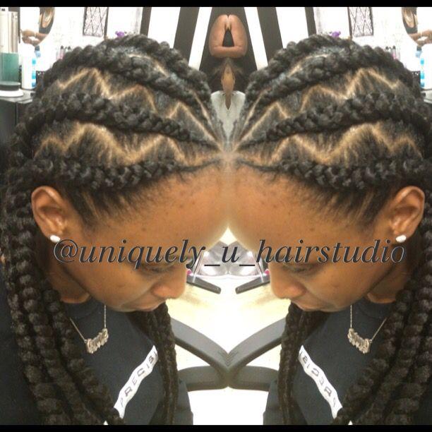 Jumbo cornrows, goddess braids, natural hair, braid designs