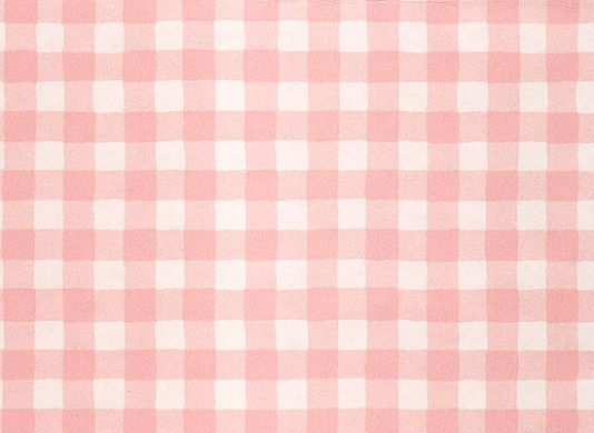 Gingham Check Wallpaper Pink White Paper