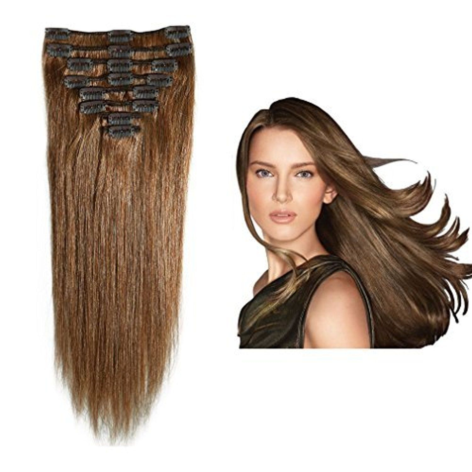 Clip In 100 Remy Human Hair Extensions 10 24 Grade 7a Quality Full