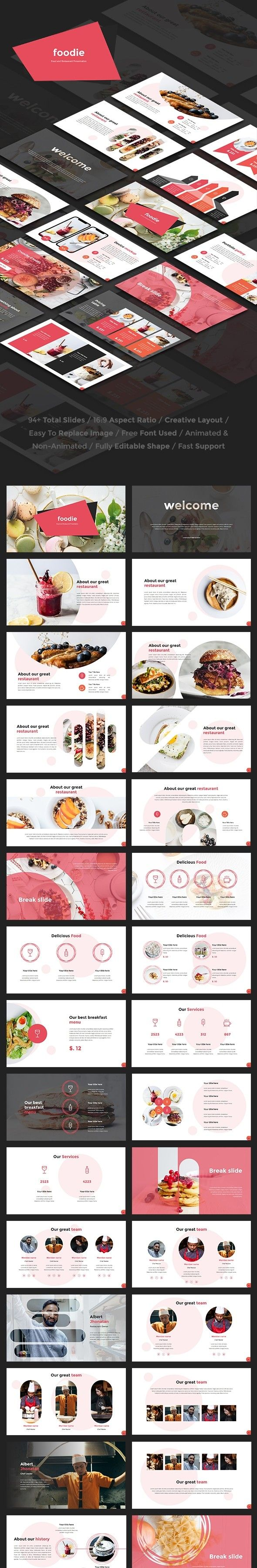 Foodie Food And Restaurant Keynote Template