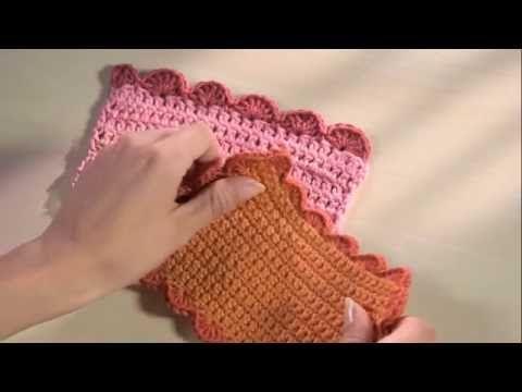 Crochet Facile 23 Bordure De Coquilles Youtube Tricot