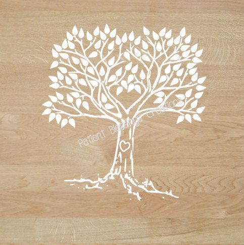 Wedding Guestbook or Family Tree SVG, DXF, EPS, Pdf, and Jpeg Cut