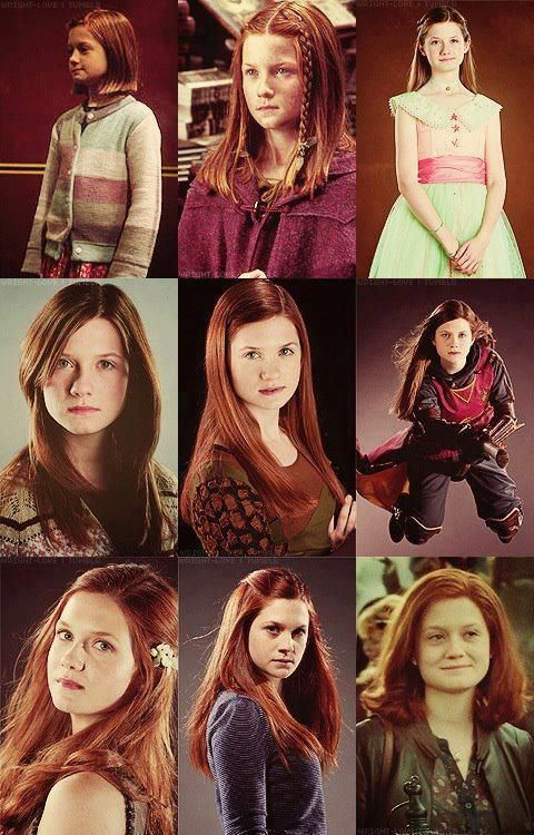 Ginny During The Years   Harry potter universal, Bonnie ...