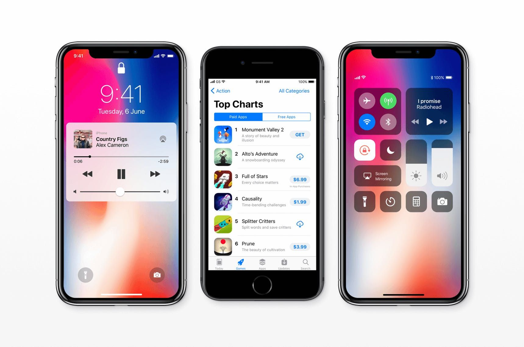 Ios 11 Gui For Iphone X And Iphone 8 Fresh Screens From Ios 11