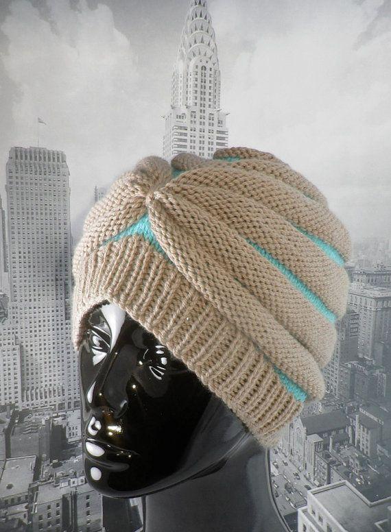 madmonkeyknits - Stripe Beehive Turban hat knitting ...