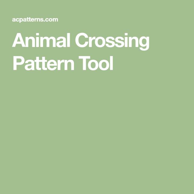 Animal Crossing Pattern Tool In 2020 Animal Crossing Qr Animal
