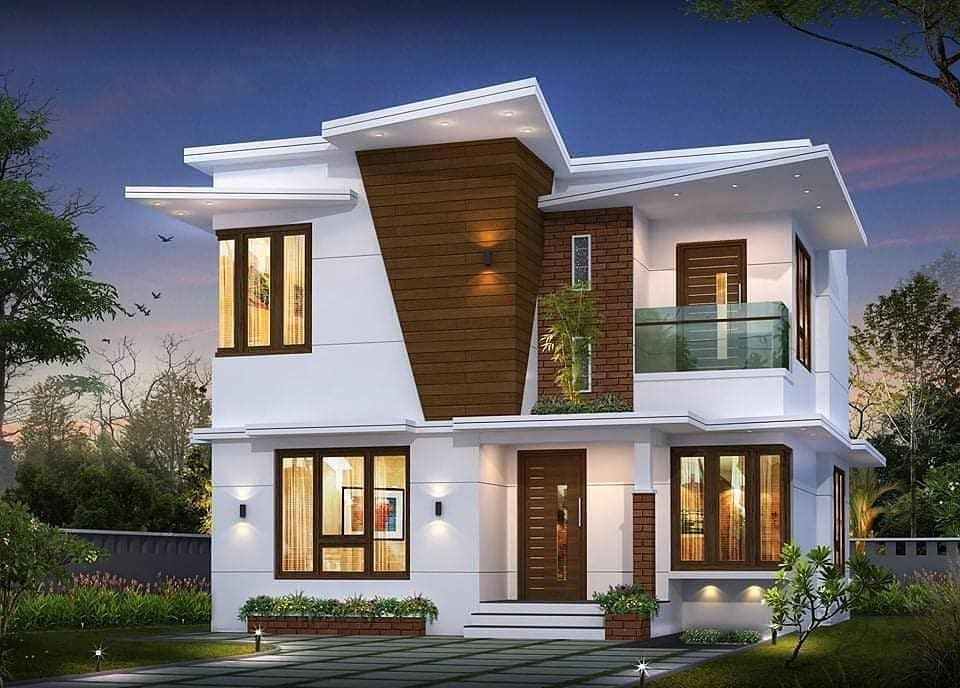 4 Bedroom Modern House Plan Duplex House Design Modern House Plan House Viewing