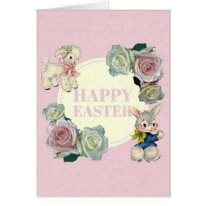 Retrovintage easter bunny lamb card retro gifts style cyo diy retrovintage easter bunny lamb card retro gifts style cyo diy special idea negle Images