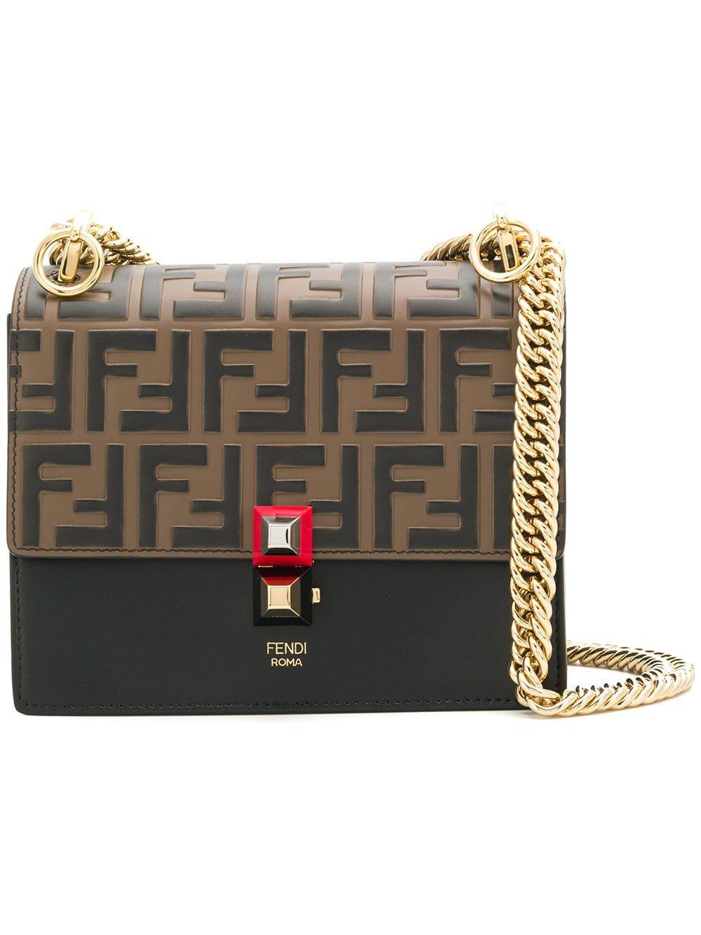 fendi #bags #kani #gold #chain #shoulderbag #clutch #new
