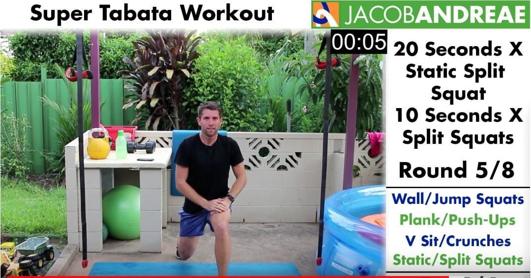 """Get that blood pumping with this """"Super Tabata Workout."""" 💪🏻🔥To watch the full video click the link ⬆..."""