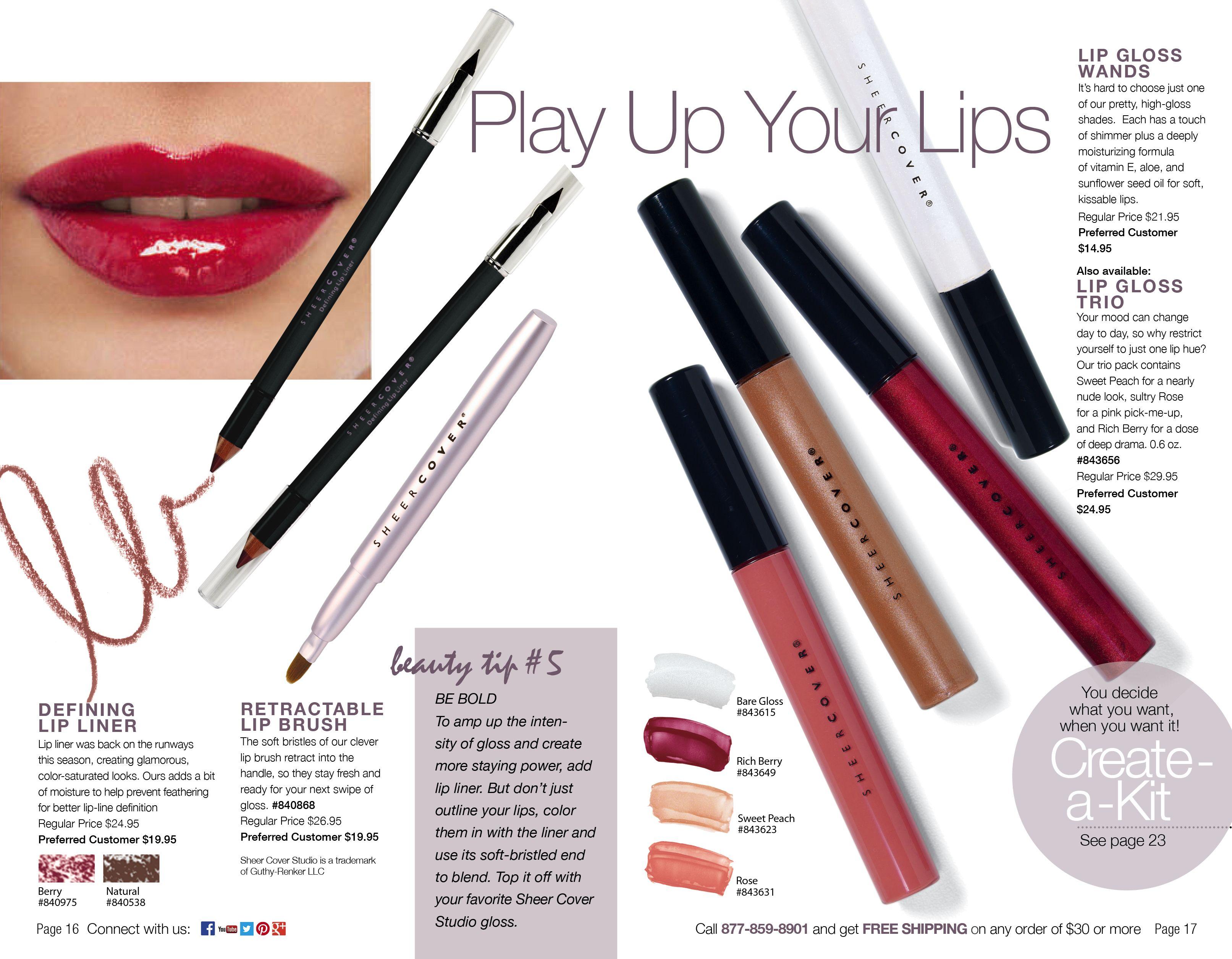 Play up your lips! Minerals makeup, Makeup kit, Lip liner