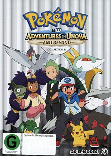 fcb5f263 buy now £9.90 Pokemon Black & White: Adventures in Unova and Beyond – Anime  TV Series Collection 2 (20 episodes) on DVD. Ash takes on the Unova League,  ...