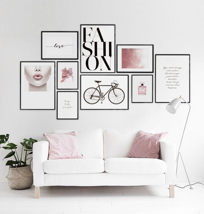 Stilvolles typografie poster mit botschaft casa azzuri wohnzimmer schlafzimmer design - Poster wohnzimmer ...