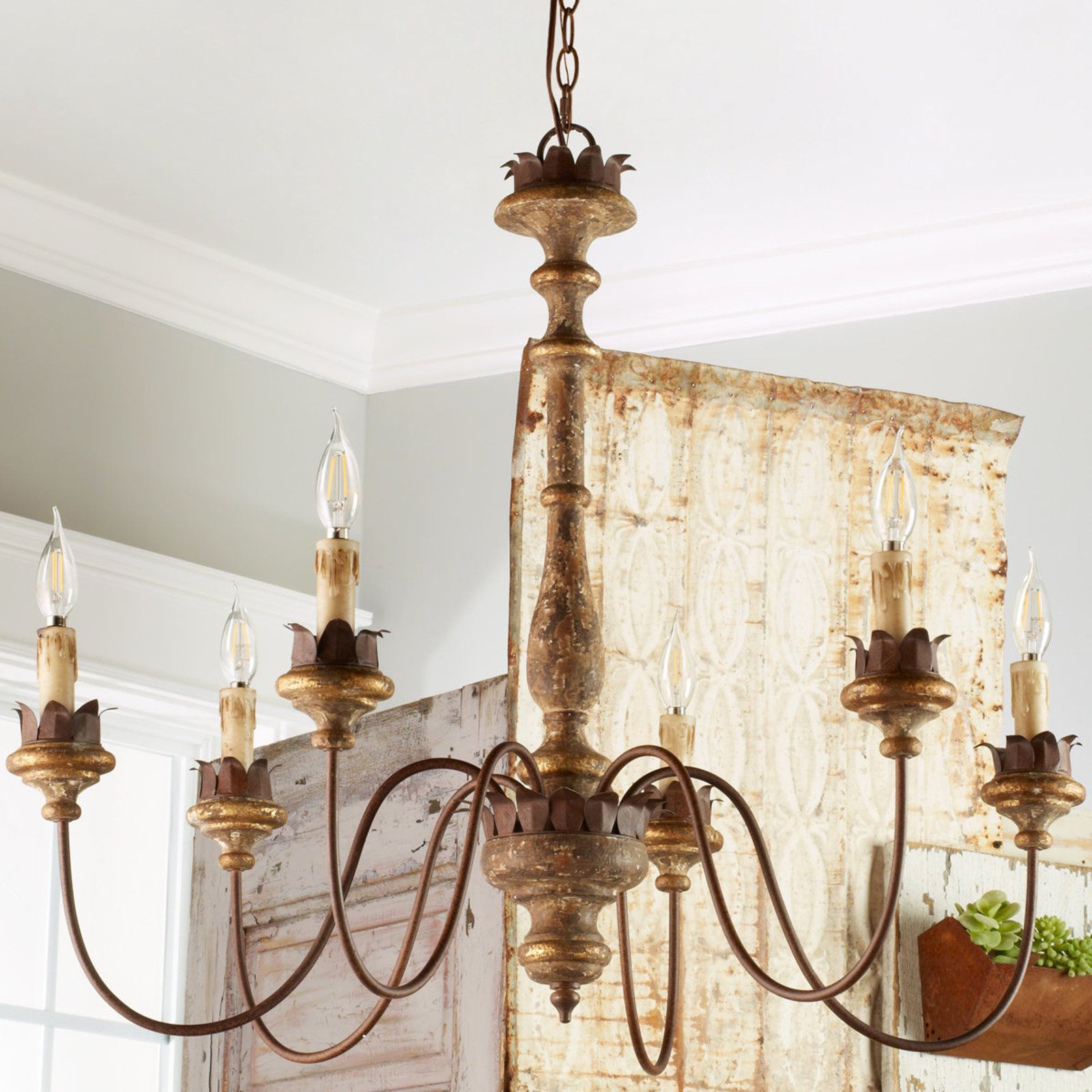Weathered Cottage Chandelier Shades of Light