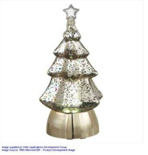 85 snowy winter battery operated lighted christmas tree table top decoration silver battery operated lights and products - Battery Lighted Christmas Decorations