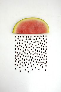 How simple yet creative is this.  Re Imagining Fruits and Vegetables – Fubiz™ — Designspiration