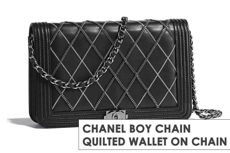 f1c04c5a5a0c Chanel Boy Chain Quilted WOC | Bags | Chanel, Chanel woc, Chain