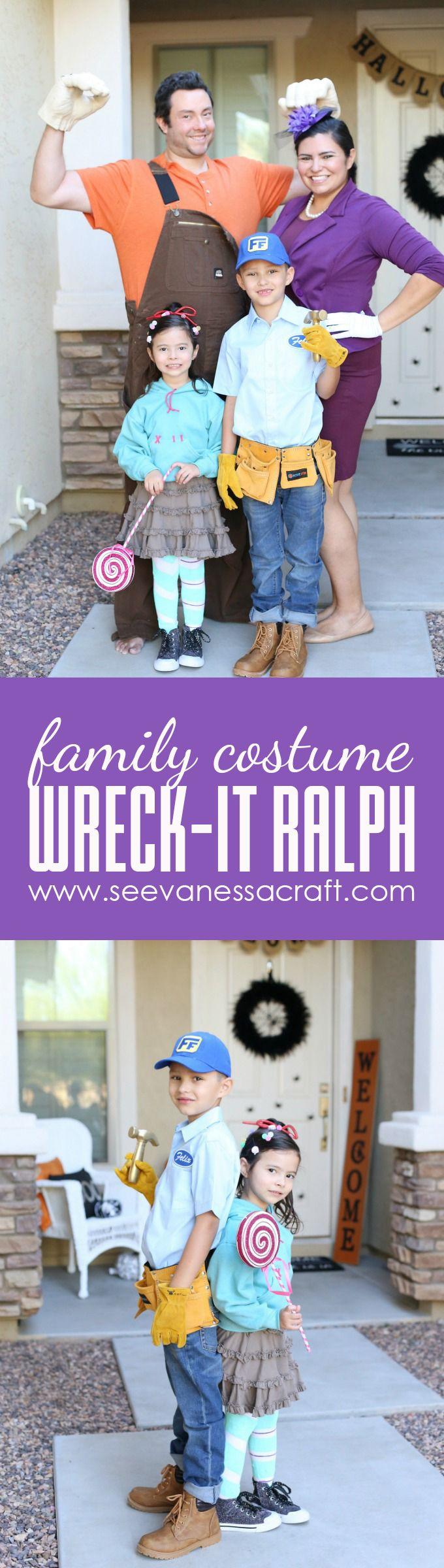 Halloween: DIY Wreck It Ralph Family Costume