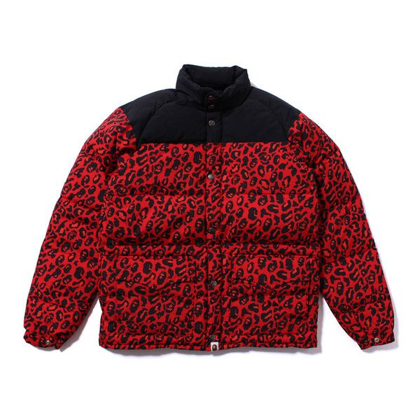 47726e9fcc8 A Bathing Ape LEOPARD CLASSIC DOWN JACKET Red