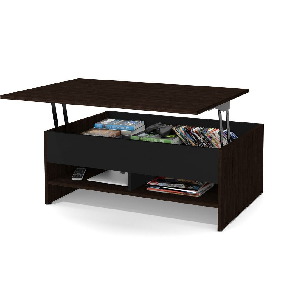 37 Small Space Lift Top Storage Coffee Table Dark Brown Black Bestar Coffee Table With Storage Lift Top Coffee Table Furniture