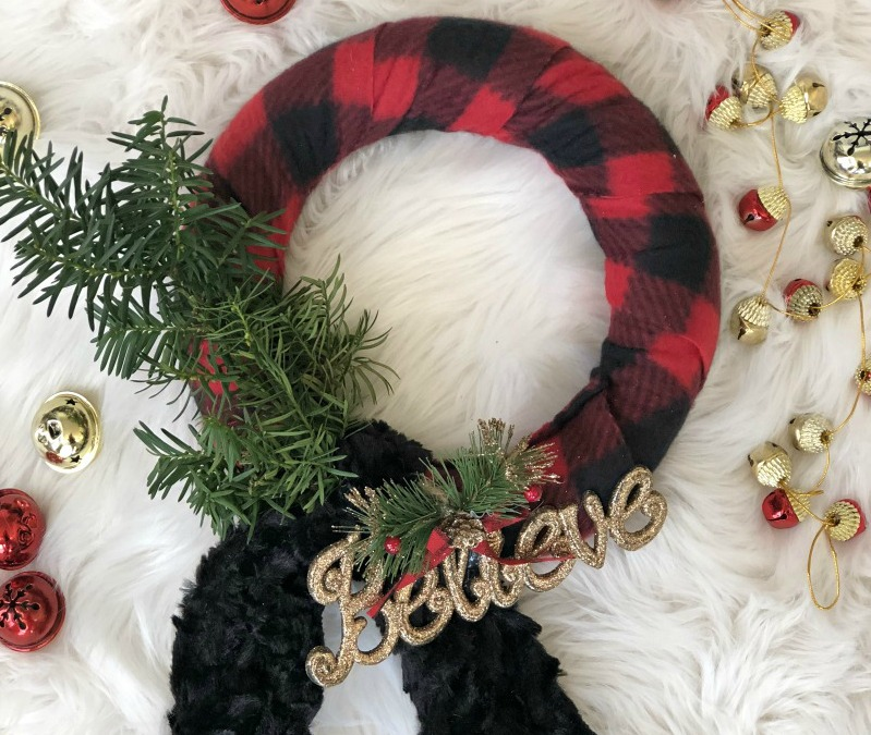 Diy Dollar Store Buffalo Plaid Scarf Wreath Dollar Tree Christmas Dollar Tree Crafts Christmas Diy