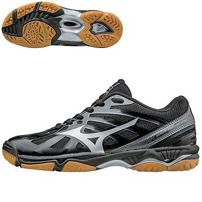 Clothing 159130: Mizuno Wave Hurricane 3 Women S Volleyball Shoes - Black  Silver - 7.5