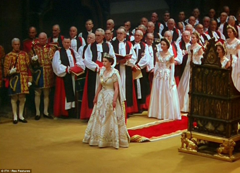 The Queen S Crowning Glory Spectacular Newly Restored Images Bring The Coronation To Colourful Life As Never Before Queen S Coronation Royal Queen Queen Elizabeth