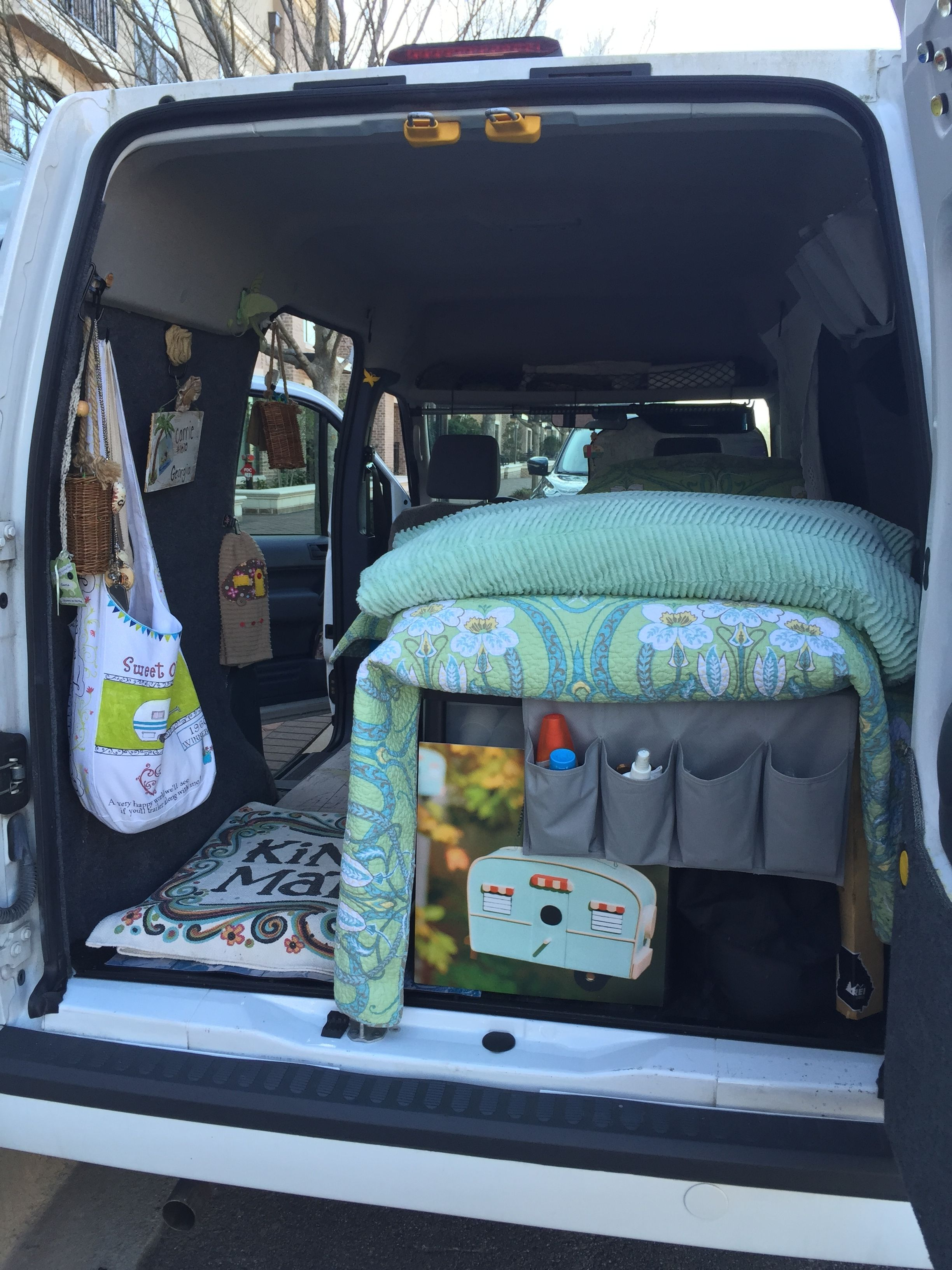 Baby B The Glamper Cramper Van 2010 Ford Transit Connect Gal Campervan Less Is More Micr Ford Transit Camper Ford Transit Connect Camper Ford Transit