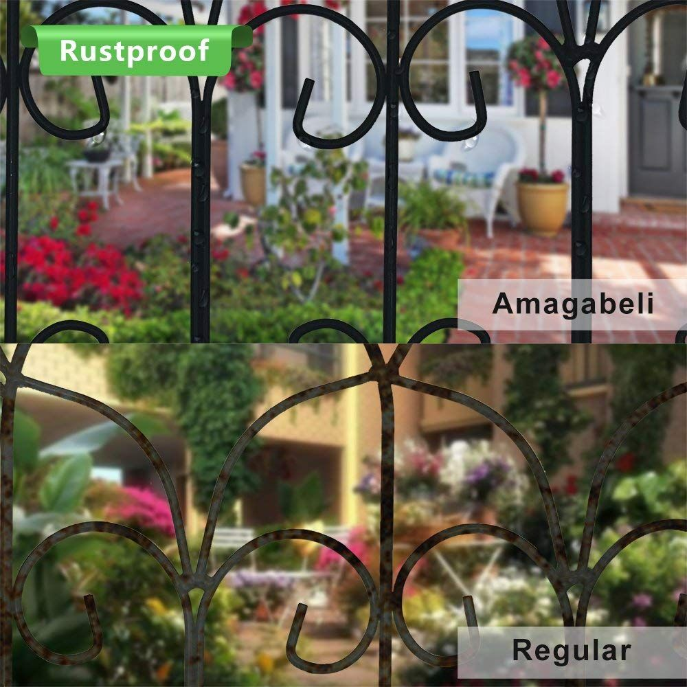 Amagabeli Decorative Garden Fence 18in x 7.5ft Coated